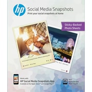 "HP Social Media Snapshots 4"" x 5"" Sticky Back Photo Paper, 25 sheets/pack"