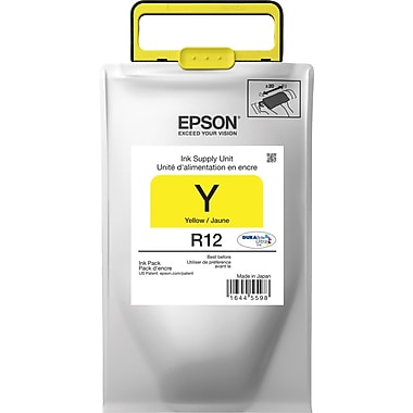 Epson DURABrite Ultra TR12420 Yellow Ink Pack, TR12420, Standard Yield