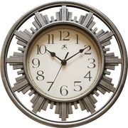 """Infinity Instruments 12"""" Silent Sweep Wall Clock with Mirror Accent, City Road"""