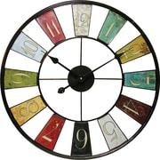 "Infinity Instruments 24"" Multicolor Kaleidoscope Wall Clock"