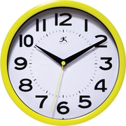 "Infinity Instruments 9"" Metro Wall Clock, Yellow"