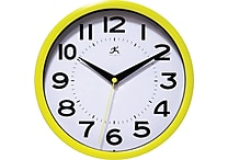 Infinity Instruments 9' Metro Wall Clock, Yellow