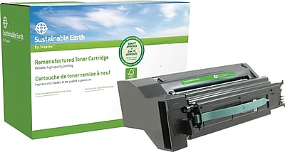Sustainable Earth by Staples Remanufactured Color Laser Toner Cartridge Lexmark C780 Cyan High Yield