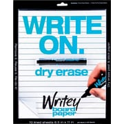 Writeyboard 10 Dry-Erase Lines Sheets and Markers