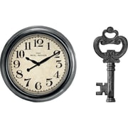 9 inch Wall Clock and Wall Key Holder Gift Set