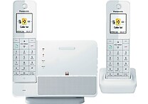 Pansonic® KX-PRL262W Link2Cell 2 Handset Cordless Telephone System with iPhone 5/6 Integration