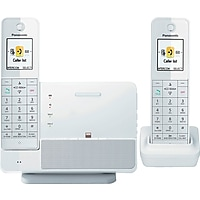 Pansonic Link2Cell 2 Handset Cordless Telephone System (White)