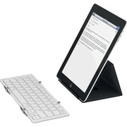 Jorno, Tri-Folding Bluetooth Keyboard, Silver/White-Powered by Fundable