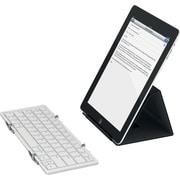 Jorno, Tri-Folding Bluetooth Keyboard, Silver/White-Powered by Fundable
