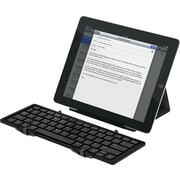 Jorno, Tri-Folding Bluetooth Keyboard, Black/Gunmetal-Powered by Fundable