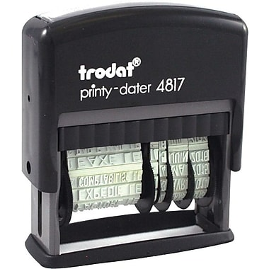 Trodat® 4817 Self-Inking Phrase Dater, French