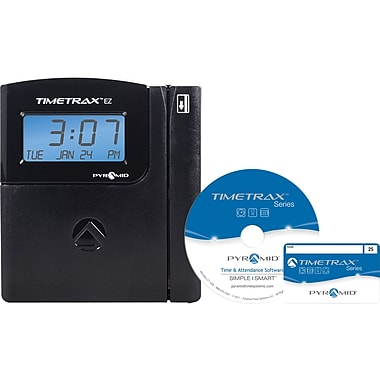 Pyramid TimeTrax™ EZ Series Automated Swipe Card Time Clock System, USB, Black (TTEZ)