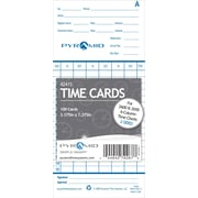 Pyramid 2000 Series Time Card, 100 Pack, (42415)