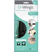 D-WINGS CORD CONTROL ASSORTED KIT, BLACK, SET OF 18