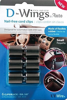 D WINGS AUTO CORD CONTROL SMALL BLACK SET OF 6