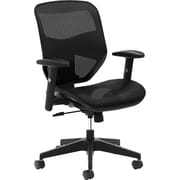 basyx by HON Mesh High-Back Task Chair Center-Tilt, Arms Black Mesh (BSXVL534MST3)