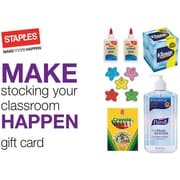 Staples® Stocking Classrooms Gift Cards