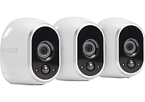 NETGEAR Arlo Smart Home Security Camera System with 3 HD, 100% Wire-Free, Indoor/Outdoor with Night Vision (VMS3330)