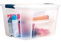 Staples 71 Quart Plastic Locking Lid container, 6/Case