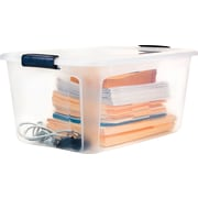 Staples 54 Quart Plastic Locking Lid Container, 7/Case (28769)