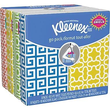 Kleenex® - Mouchoirs format de poche, 8 paquets de 10 mouchoirs