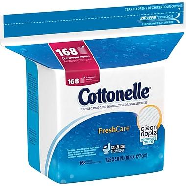 Kleenex® - Débarbouillettes jetables dans les toilettes Cottonelle®, paq./168