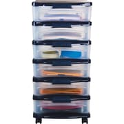 Staples Medium Plastic Storage Drawer Cart, 6 Drawer (28772)