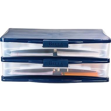 Staples Wide Desktop Plastic Storage Drawer Organizer 2