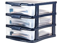 Staples Medium Desktop Plastic Storage Drawer, 3 Drawer (28776)
