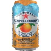 SANPELLEGRINO Sparkling Fruit Beverages, Aranciata/Orange 11.15ounce Can, 12/Pack
