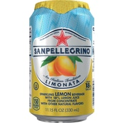 SANPELLEGRINO Sparkling Fruit Beverages, Limonata/Lemon 11.15ounce Can, 12/Pack