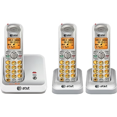 staples: AT&T EL51310 Cordless Phone System with 3 Handsets 45CAD