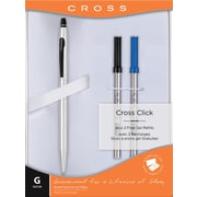 Cross Click Gel Ink Pen Gift Set, Medium Point, Chrome, Each