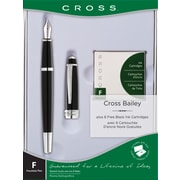 Cross Bailey Fountain Pen Gift Set, 0.38 mm, Black Lacquer (AT0456H-7MS/15)