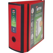 Staples Better 4-inch 3 Ring View Binder, Red