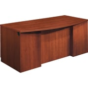 "HON Park Avenue Collection® Bow Right Front Single Pedestal Desk, Box/Box/File, Henna Cherry, 29 1/2""H x 72""W x 36""D"