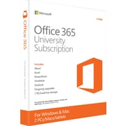 Office 365 University for Windows/Mac (2-Device) [Product Key Card]