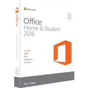 Office Home and Student 2016 for Mac (1 User) [Product Key Card]