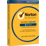 Norton Security Deluxe - 5 Devices for Windows (1 User) [Product Key Card]
