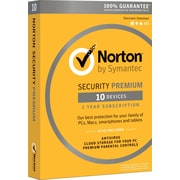 Norton Security Premium 10 Devices for Windows (1 User) [Product Key Card]