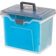 Staples® Portable File Box, Letter Sized, Clear w/ Gray Lid (110991)