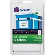 "Avery Self Laminating ID Labels 00745, Handwrite, 3 3/4"" x 5 3/4"", Gray Border, Pack of 4"