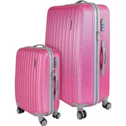 InUSA Houston Collection Pink lightweight ABS 2 pc Luggage Set (IUHOU0SB-PNK)