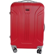 InUSA Boston Collection Red lightweight ABS 21.7 inch Luggage (IUBOS00M-RED)