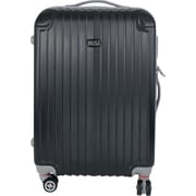 InUSA Los Angeles Collection Black lightweight ABS 22.5 inch Luggage (IULAX00M-BLK)