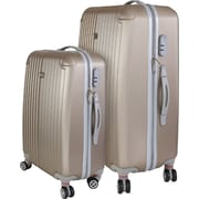 InUSA Los Angeles Collection Champagne lightweight ABS 2 pc Luggage Set (IULAX0MB-CHA)
