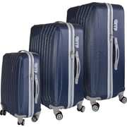 InUSA Miami Collection Blue lightweight ABS 3 pc Luggage Set (IUMIASMB-BLU)