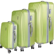 InUSA Miami Collection Green lightweight ABS 3 pc Luggage Set (IUMIASMB-GRN)