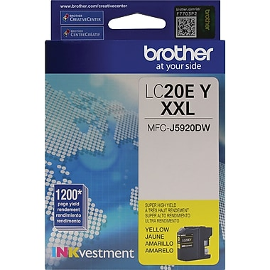 Brother LC20E XXL Yellow Ink