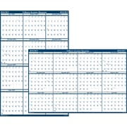 "2016-2017 House of Doolittle, Academic Reversible Laminated Wall Planner, 24"" x 37"", Yearly, Blue (395-17)"